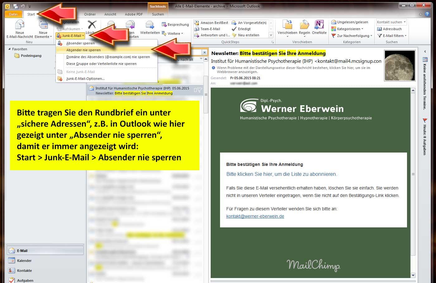 Werner Eberwein | Vielen Dank für die Anmeldung zum Rundbrief